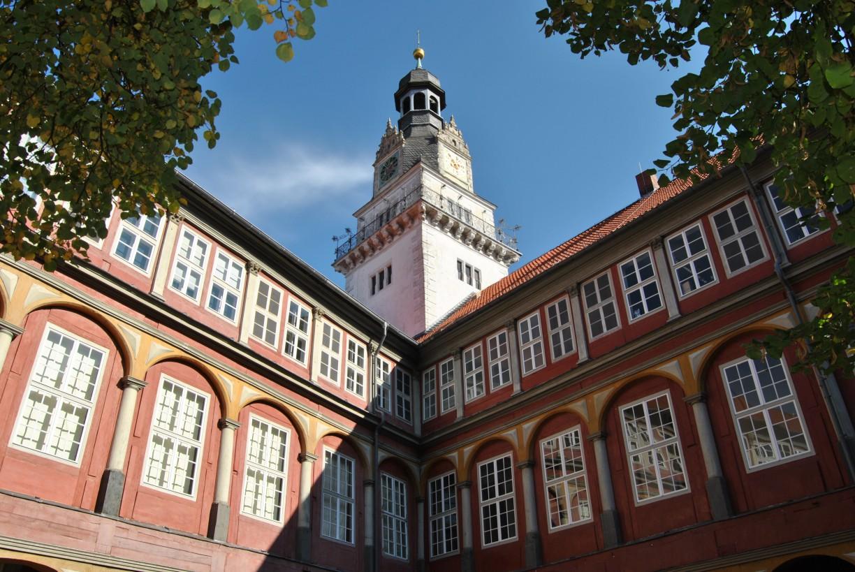 Das Schloss in Wolfenbüttel vom Innenhof betrachtet © Keno