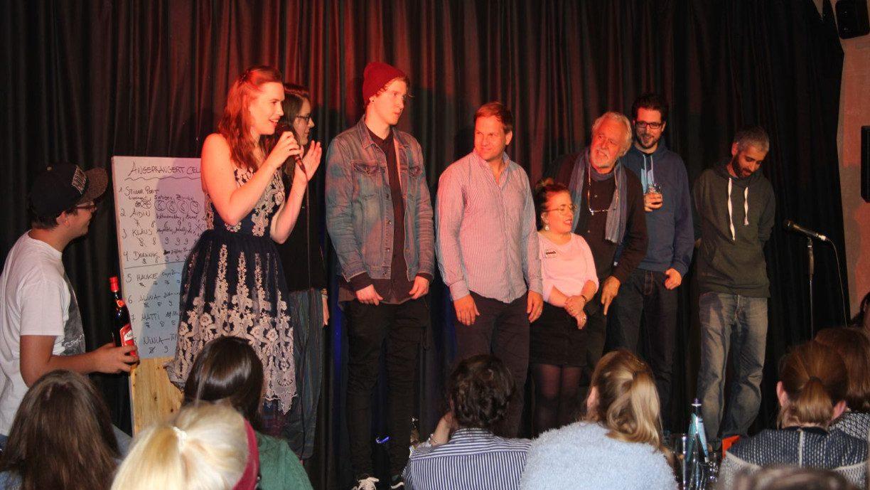 Die Siegerehrung der Slamer beim Celler Poetry Slam