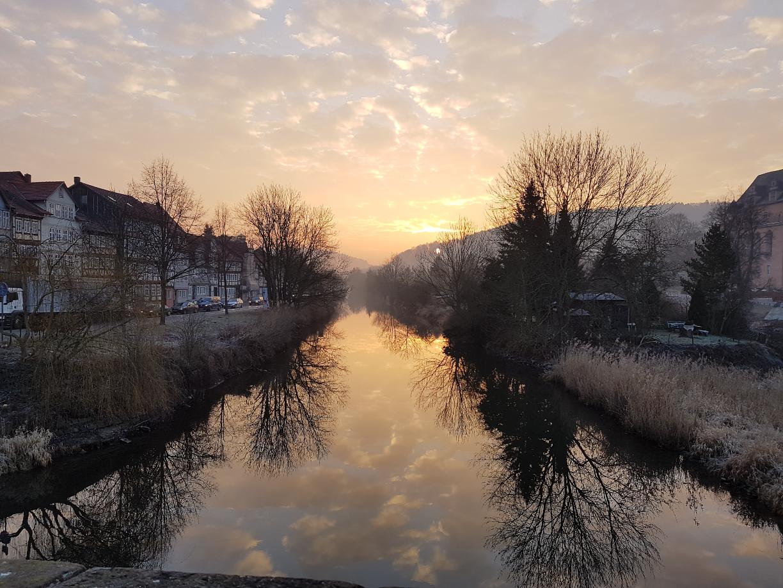 Sonnenaufgang über der Werra (c) Giel