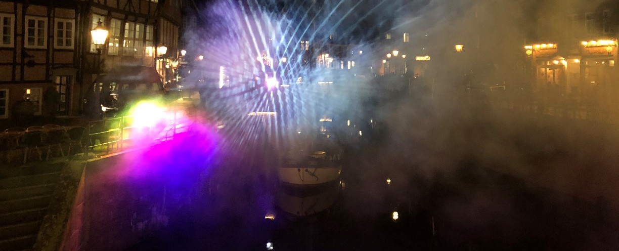 Erste Stader Polarnacht - Lights and Sounds Winter Groove im Hansehafen